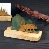 Business Card Holder: Bear in Trees - $14.95
