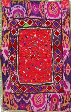 uzbek embroidery - bold mixture of colour and styles