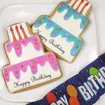 Marie Antoinette Party ThemeL birthday cake cookies — Linda Kaye's Partymakers