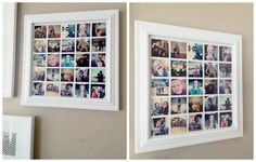 eighteen25: instagram photo collage  Free photoshop template, but you could do this in another program too. Love this idea