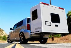 Give your car an upgrade with this Hitch Hotel Expandable Camper. Designed to serve as an organic extension of your vehicle, this no-wheel camper can be. Truck Camper, Diy Camper Trailer, Tiny Camper, Small Campers, Camper Caravan, Camper Boat, Travel Camper, Trailer Plans, Trailer Build