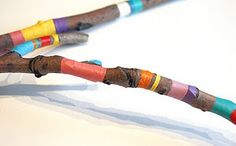 painted sticks- could wrap with embroidery floss