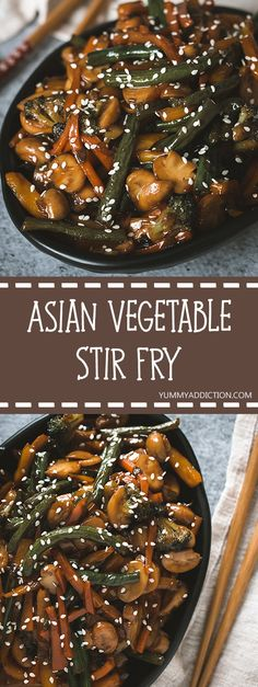 This Asian vegetable stir fry is your new favorite side dish! What's not to love about ginger & soy sauce coated veggies? Healthy, delicious, and so easy to make! Side Dish Recipes, Asian Recipes, Dinner Recipes, Healthy Recipes, Ethnic Recipes, Healthy Kids, Dinner Ideas, Asian Vegetables, Eating Vegetables