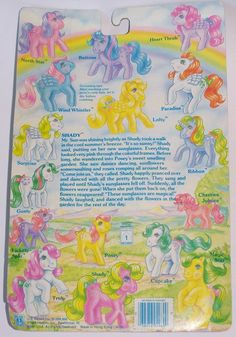 Generation One G1 vintage 1980's My Little Pony So Soft Ponies set 1 Shady earth pony with first wave card by seller serena151.  #mlpmib #mylittlepony #g1mlp #sosoftpony