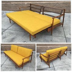 JAPANESE STYLE MID CENTURY WALNUT PULL OUT BED | West Coast Modern LA