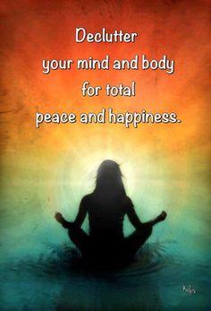 Declutter your mind........