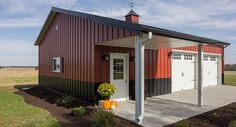 Morton Building Garage in Fairfield, Illinois