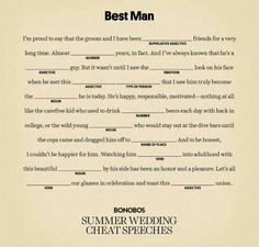 Hey Guys this is the basic outline of a best man speech. Boring & monotonous r Best Man Speech Examples, Groom Speech Examples, Funny Best Man Speeches, Best Man Wedding Speeches, Best Man Duties, Speech Outline, Cool Outfits For Men, Groom's Speech, Maid Of Honor Speech