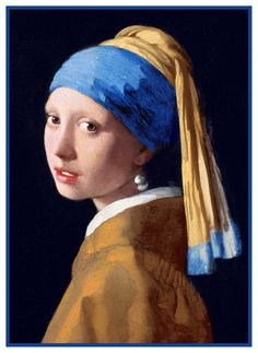 The Girl With the Pearl Earring by Johannes Vermeer Counted Cross Stitch or Counted Needlepoint Pattern