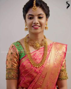 Muhurtham look for my lovely bride Rasika😊 For bridal bookings contact 9840312031 Bridal Hairstyle Indian Wedding, Indian Wedding Hairstyles, Indian Bridal Makeup, Wedding Hairdos, South Indian Bride Hairstyle, Indian Bridal Fashion, Hair Wedding, Wedding Bells, Wedding Dress