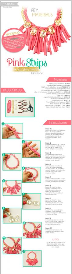 Fashion Topic Key Materials Pink Strips  Descubre más componentes para tus diseños en: http://www.elgaleon.com.mx/?seccion=fashion_topic  Suscríbete a nuestro canal de Youtube: https://www.youtube.com/user/bisuteriafina