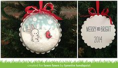 Lawn Fawn - Snow Day + coordinating dies, Snow Day 6x6 paper _ snowy ornament by Lynette L. for Have A Very Fawny Holiday Week