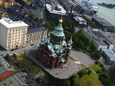 Uspenski Cathedral from air - Успенский собор (Хельсинки) — Википедия
