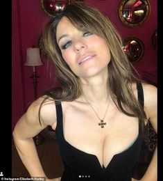 Elizabeth Hurley, puts on a VERY busty display in perilously plunging LBD Beautiful Celebrities, Beautiful Actresses, Most Beautiful Women, Pale Pink Lips, Sexy Little Black Dresses, Elizabeth Hurley, Friends Image, Jean Harlow, Brunette Beauty