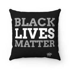 Black lives matter Square Pillow Pillow Room, Throw Pillows, Cover, Etsy, Life, Black, Cushions, Black People, Blankets
