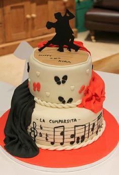 Dance Birthday Cake, Mary Birthday, Birthday Cakes, Dancer Cake, Flamenco Party, Musica Salsa, Tango Dancers, Dance Themes, Sugar Rush