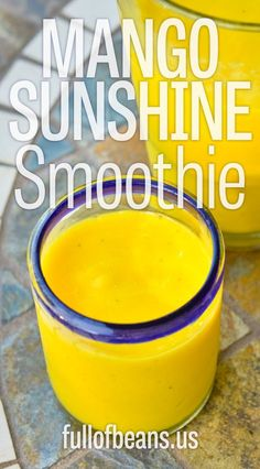 Colorful Sunshine Smoothie for a Blast of Mango in Your Day. Easy smoothie with a special ingredient that adds a zing to your day!