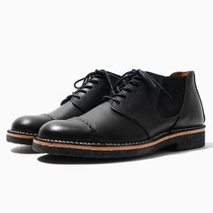 Neighborhood TC . Officer-Smooth / Cl-Shoes | Brogue detailing and a crepe sole.