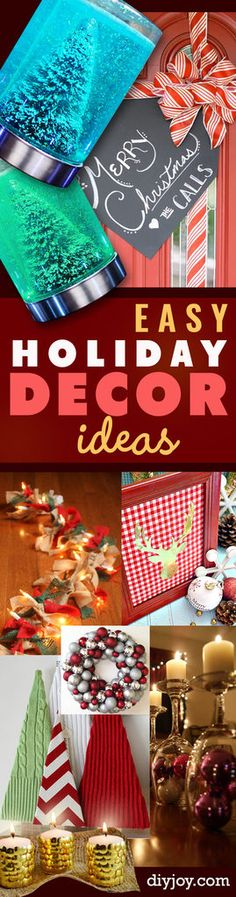 DIY Christmas Decorations and Homemade Holiday Decor Ideas - Quick and Easy Decorating idea for the Holidays -, cool ornaments, home decor crafts and fun Christmas stuff Cool Diy, Easy Diy, Fun Diy, Make Neon, Decor Crafts, Diy Crafts, Christmas Crafts, Christmas Decorations, Christmas Stuff