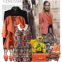 Indressme by lunasolare on Polyvore featuring мода, Zara, DKNY, J.Crew, Nearly Natural, Pier 1 Imports, Knoll and Salvatore Ferragamo