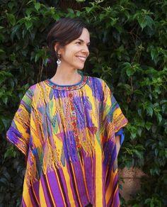 Colorful & Beautiful Vintage Guatemalan Textile:Huipil from San Juan Sacatepequez