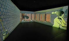 """public conVENience,"" video installation by Tabaimo, 2006, at the Hara Museum of Contemporary Art. Photograph: Hirotaka Yonekura"