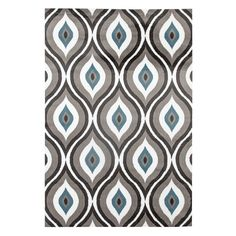World Rug Gallery Alpine Trellis Rug, Grey