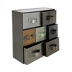Storage Rack in Iron with 7 Drawers #metal #drawers @ Zansaar.com