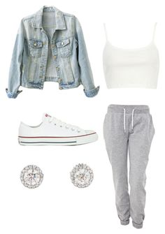 """""""Body"""" by tiaramb11 ❤ liked on Polyvore featuring River Island, White Label and Converse"""