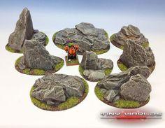 Rocky Outcrops Resin Scenery SET Wargames Terrain Rocks Boulders Warhammer | eBay