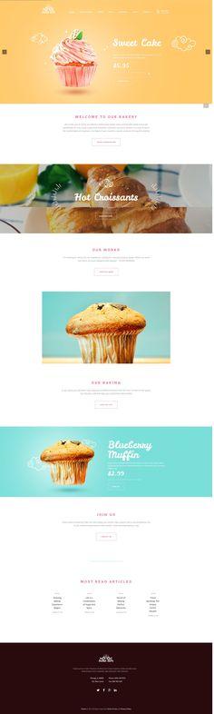 Sweet #cakes #cafe #WordPress theme