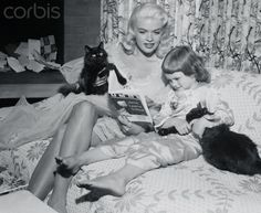 Actress Jayne Mansfield with Her Daughter and Pets, July 1955. Photograph byCharles Nerpel.