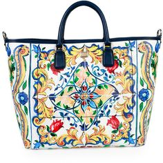 Dolce & Gabbana St. Maioliche Tile Shopper Tote Bag (2 015 AUD) ❤ liked on Polyvore featuring bags, handbags, tote bags, anchor tote, multi colored handbags, dolce gabbana handbags, handbags purses and dolce gabbana purses