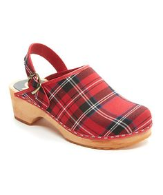Look at this #zulilyfind! Red Highlands Leather Clog - Women #zulilyfinds
