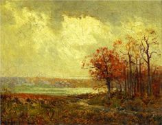 "Fall Landscape - Robert Julian Onderdonk Julian Onderdonk (July 30, 1882 – October 27, 1922) was a Texan Impressionist painter, often called ""the father of Texas painting."""