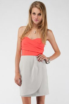 Two For One Mini Dress in Coral $44 at www.tobi.com