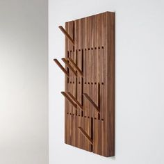 Buy online Piano walnut By per-use, wall-mounted walnut coat rack design Patrick Seha Hanger Rack, Coat Hanger, Coat Hooks, Wall Coat Rack, Shoe Hanger, Tv Regal, Used Piano, Resource Furniture, Vintage Umbrella