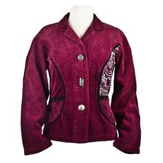 Tapestry Jacket Tapestry, Leather Jacket, Blazer, Shoe Bag, Jackets, Stuff To Buy, Shopping, Collection, Tops