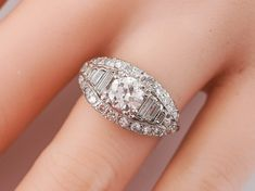 Antique Engagement Ring Art Deco .67 Old European Cut Diamond-Minneapolis, MN filigreejewelers.com