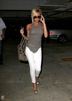 White pants fashion. http://www.noellesnakedtruth.com/