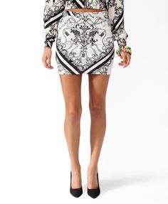 Hello Kitty® Filigree Print Miniskirt #HelloKittyForever - im sorry but I look at this and it makes me think of a diagram of her reproductive system