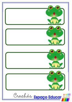 Crachás e etiquetas prontas para imprimir com o tema sapinhos sapos - ESPAÇO EDUCAR Bookmarks Kids, Bookmark Craft, Cartoon Drawings, Cute Drawings, Frog Pictures, Butterfly Clip Art, Twin Birthday, Frog And Toad, Birthday Cupcakes