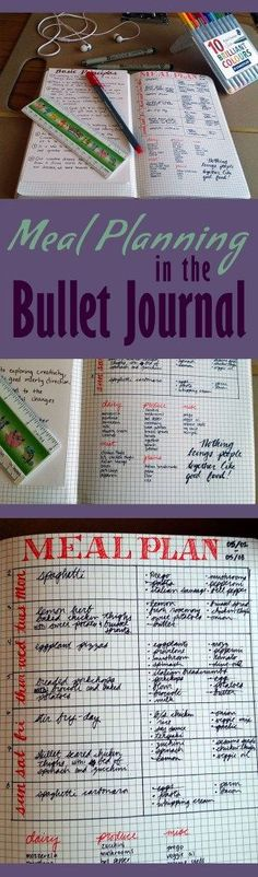 Meal planning tips for the Bullet Journal