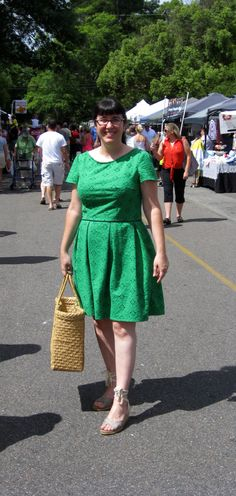 Modified colette peony dress. Love the fit here.