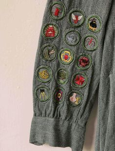 Vintage scout's dress vtg Girl Scouts dress with loads of patches and insignia, size xs-s Girl Scout Uniform, Girl Scout Patches, Girl Scout Badges, Textiles, Girl Guides, Vintage Girls, Girl Scouts, Refashion, Beautiful Outfits