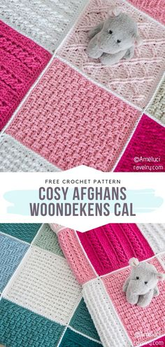 Cosy Afghans/Woondekens CAL Free Crochet Pattern This beautiful blanket was a theme of popular crochet along. We are always super excited about CAL patterns that are based on various squares. They give us so much room for creativity and color play! Crochet Afghans, Crochet Square Blanket, Crochet Ripple, Manta Crochet, Afghan Crochet Patterns, Baby Blanket Crochet, Crochet Blankets, Crochet Squares, Crochet Home