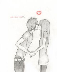 Cute Couple Sketches, Sketches Of Love, Emo Pictures, Pictures To Draw, Emo Pics, Cute Anime Couples, Couples In Love, Beautiful Drawings, Cool Drawings