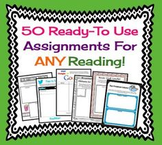 50 Creative & Fun Printable Assignments For Any Short Stor