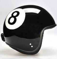 8 Ball Motorcycle / Scooter / Vespa Helmet | #ridesafe #protectyourpumpkin