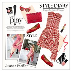 """""""Atlantic-Pacific - Let's play"""" by amaryllis ❤ liked on Polyvore featuring Post-It, Simone Rocha, Chanel, Shoes of Prey, Thierry Lasry and Topshop"""